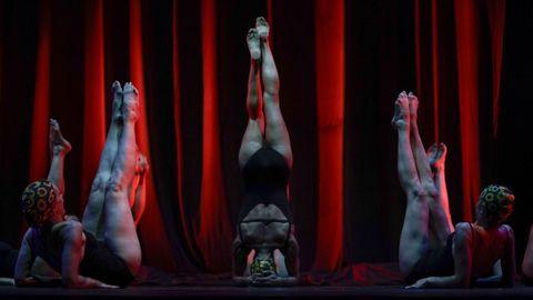 Imagen de la actuación de Aporía Escénica en la MIT de Ribadavia