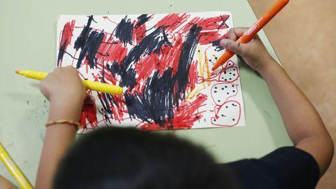 Dibujos en una aula de Infantil