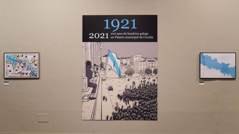 Primeiro izado da bandeira: Co Concello da Coruña foi a primeira institución pública que izou a bandeira en Galicia o 25 de xullo de 1921. A imaxe é da mostra que se pode visitar estes días no pazo municipal de María Pita. Dicir que a bandeira, ao igual que o himno, tiveron que agardar ata 1984 para ser coñecidos como oficiais na Lei de Símbolos de Galicia