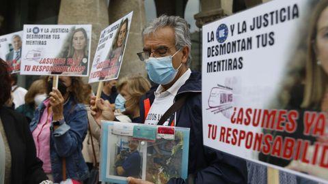 Manifestación de las víctimas del accidente del Alvia
