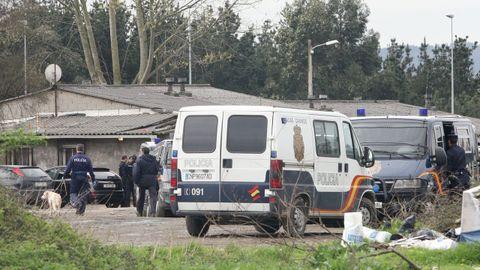 Redada antidroga del Cuerpo Nacional de Policía en el campamento de Freixeiro, en el año 2011