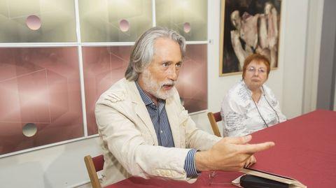 Ilia Galán, durante la presentación de su libro