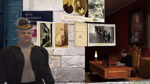 La recreación de su casa y retratos en la Casa Museo de A Coruña