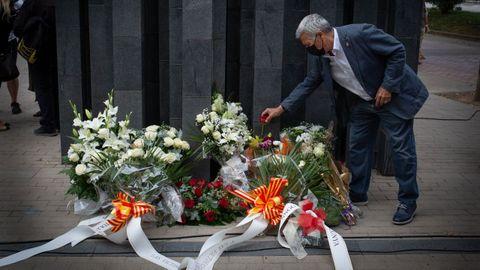 Homenaje en el aniversario de víctimas de ETA en Barcelona