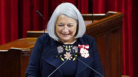 Mary Simon, durante su discurso de toma de posesión