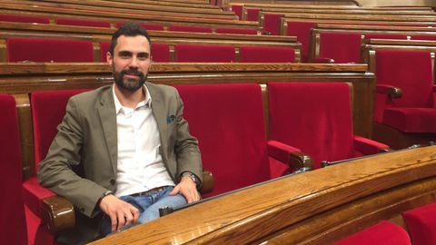 El expresidente de la Cámara catalana y actual consejero de Empresa, Roger Torrent
