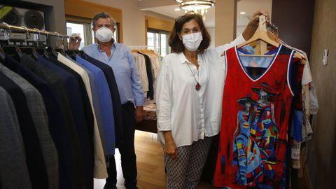 Valentín Caamaño y Clara González, responsables de la marca Blue Nattier
