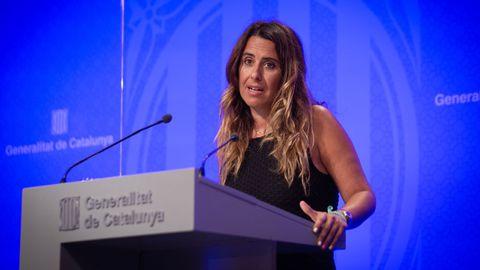 La portavoz del Gobierno catalán, Patrícia Plaja