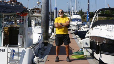 Carlos Paz,. presidente del Club Naval de Pontevedra y candidato a la reelección