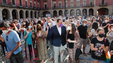 Manifestación de repulsa en Gijón