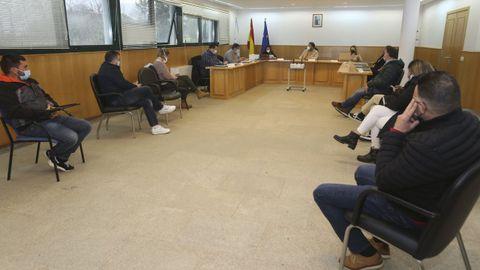 Imagen de archivo de un pleno en Ponteceso