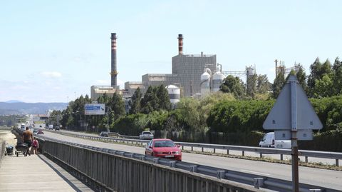 Fábrica de Ence en Pontevedra