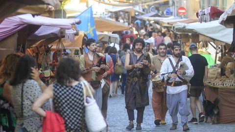 Feria Medieval de Ferrol en la última edición, antes de la crisis sanitaria.