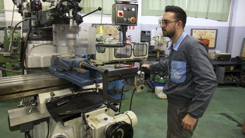 Imagen de archivo del taller de fabricación mecánica del CIFP Ferrolterra