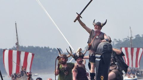 Romaría Vikinga de Catoira en una edición anterior a la crisis sanitaria.