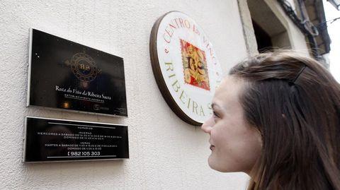 Letreros con diferente simbología sobre la Ribeira Sacra en el Centro do Viño de Monforte