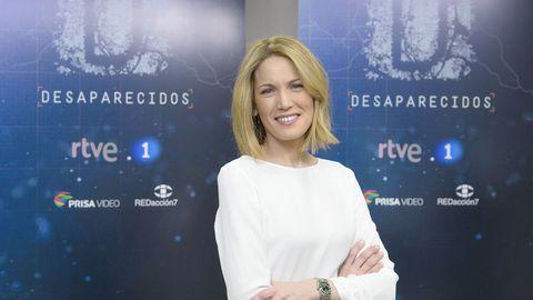 Silvia Intxaurrondo cuando ejercía de presentadora del programa  Desaparecidos , de La 1 de TVE
