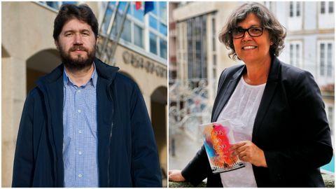 El alcalde de Arteixo, Carlos Calvelo, y la regidora de O Porriño, Eva García