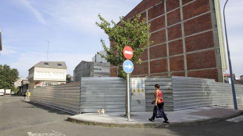 Obras de la primera promoción de viviendas construida en Carballo desde la crisis de 2008