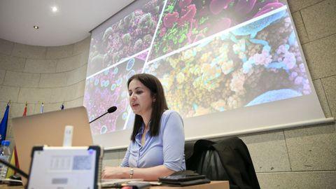 A neurocientífica Sonia Villapol na charla Pazo de San Marcos da Diputación de Lugo