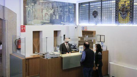 El hotel Méndez Núñez, en pleno casco histórico de Lugo, destaca la alta ocupación.