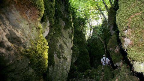Os Grobos, en Becerreá, son formaciones de roca caliza erosionadas probablemente por el agua