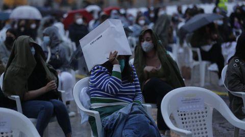 La lluvia sorprendió a los asistentes a un concierto en A Coruña este sábado