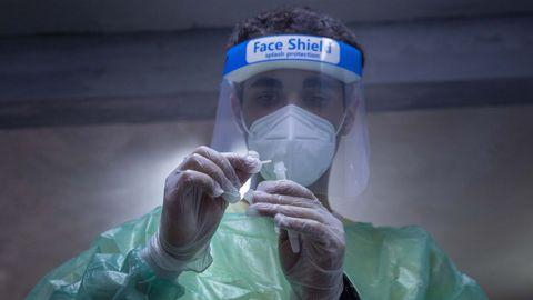 Test de antígenos realizado en Santiago