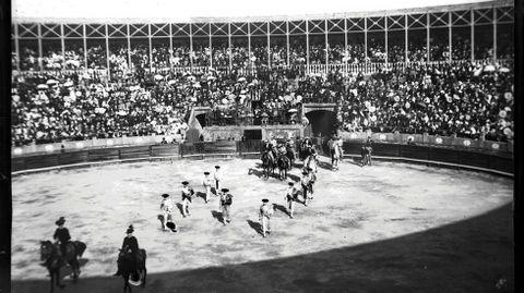 Plaza de toros de Pontevedra a principios del siglo XX