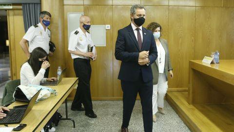 Rueda de prensa del delegado del Gobierno, José Miñones, con la policia por el caso Samuel