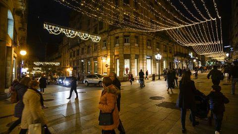 Así lucía la iluminación de Ourense en las últimas Navidades