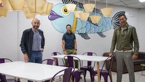 Pepe Araújo, Juan López y Cristian Pérez son los propietarios de Augas Quentes