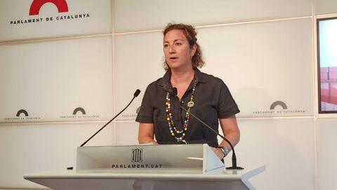 La portavoz del PSC en el Parlamento catalán, Alícia Romero, en una imagen de archivo