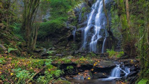 As Hortas Waterfall, in Arzúa.