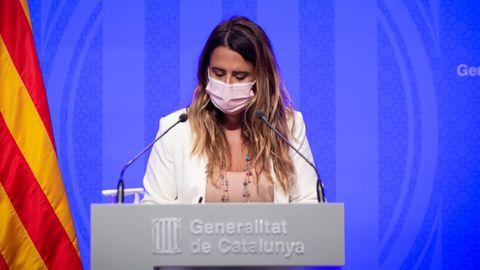 La portavoz del Govern, Patrícia Plaja