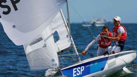 Jordi Xammar y Nico Rodríguez en la final de 470