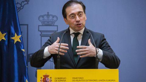 José Manuel Albares, en la toma de posesión de nuevos cargos del Ministerio de Asuntos Exteriores