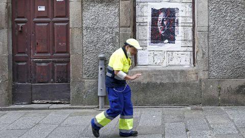 Kaldarte 2021. Obra de Estefanía Alonso en la calle Real