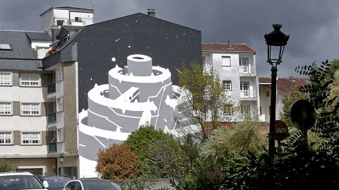 Kaldarte 2021. Obra de Peri Helio en la rua Constitución