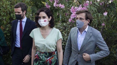 Casado, Ayuso y Almeida, en una imagen de archivo.