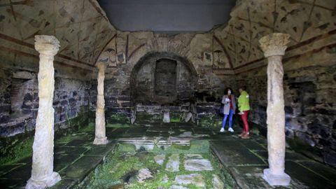 Conjunto del templo romano de Santa Eulalia de Bóveda, en Lugo
