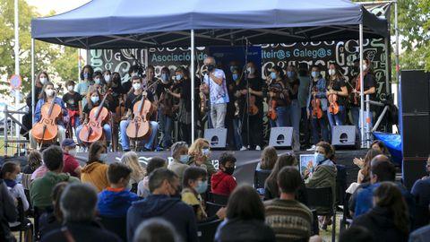 Galicia Fiddle abrió los conciertos de la jornada del sábado