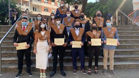 La última promoción de Ingeniería Agraria, durante su acto de graduación en el campus de Ourense