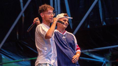 Funzo & Baby Loud en un concierto en Zaragoza.