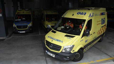 Imagen de archivo de ambulancias en el Chuac