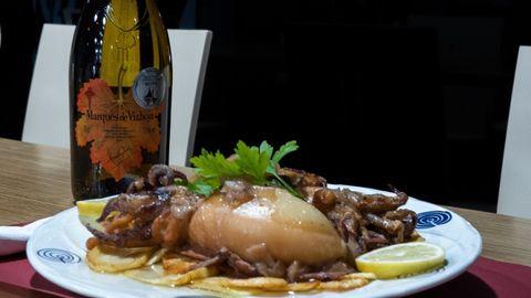 Estos son los Chocos al lagar de la Vinoteca Cervecería O Lagar en Vigo