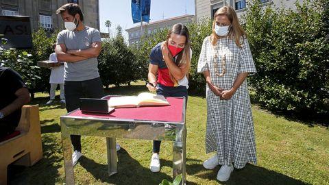 LA PRESIDENTA DE LA DIPUTACIÓN CARMELA SILVA RECIBE A LOS DEPORTISTAS DE LA PROVINCIA QUE PARTICIPARON EN LOS JUEGOS OLÍMPICOS DE TOKIO