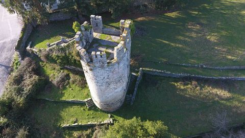 Vista de dron de la finca de la Fortaleza donde se encuentra la Torre de los Batallón