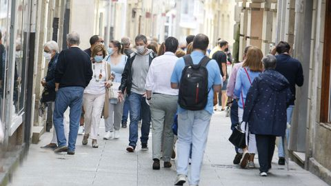 Ambiente este fin de semana en calles de Viveiro