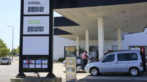 Precios ayer en una de las gasolineras más baratas de la ciudad de Lugo